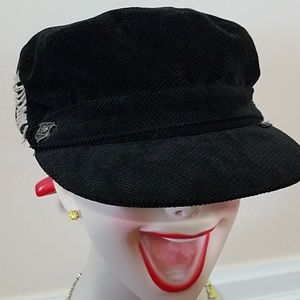 Black Corduroy Peter Grimm Hat